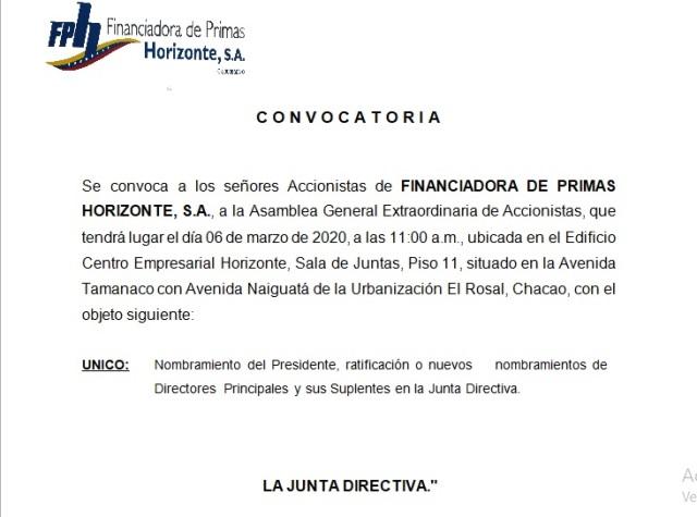 convocatoria Financiadora de primas 2020 editada